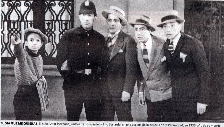 Astor Piazzolla and Carlos Gardel