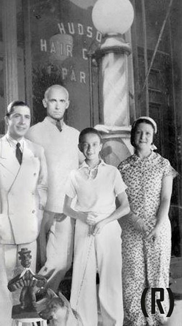 Carlos Gardel Astor Piazzolla and his family