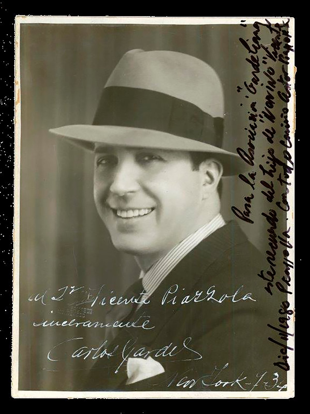 Gardel's picture to Piazzolla's father